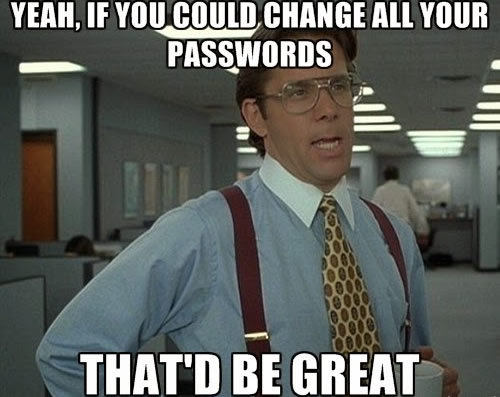 Heartbleed bug - change all passwords