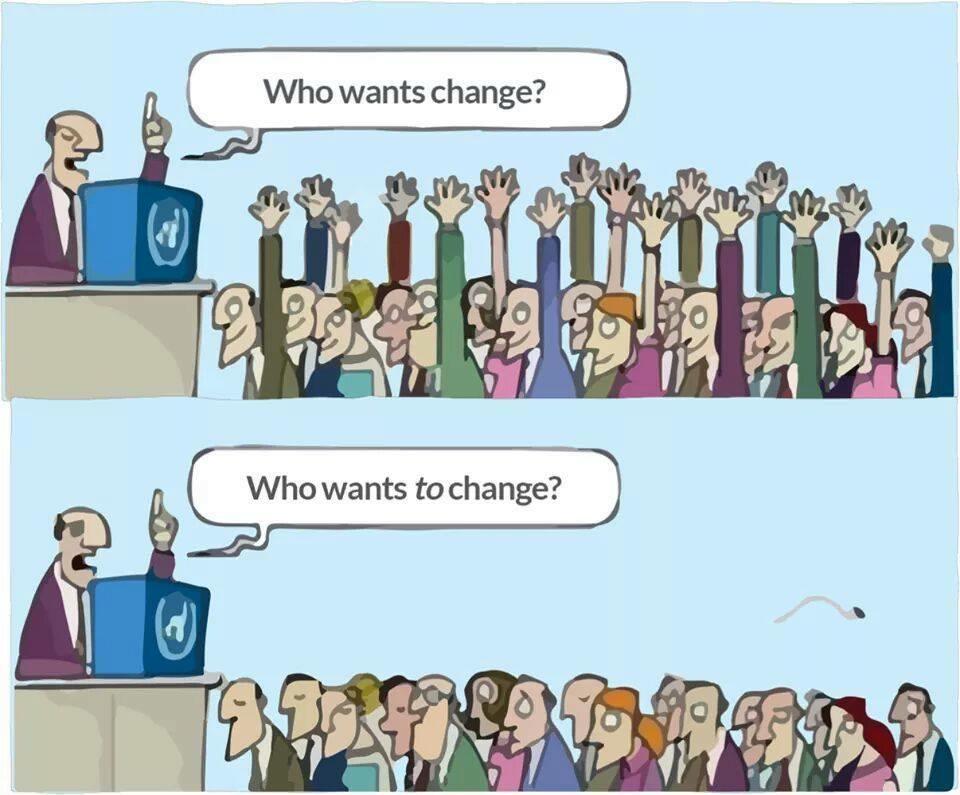 Change everyone wants but nobody wants to take responsibility for